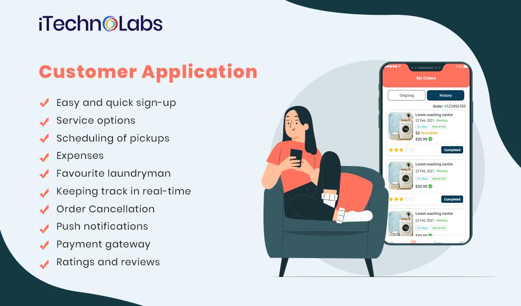 Customer laundry Application itechnolabs