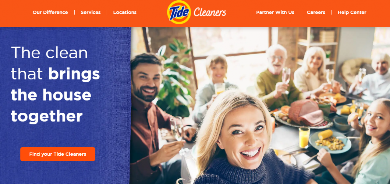 tide cleaner On-Demand Laundry App
